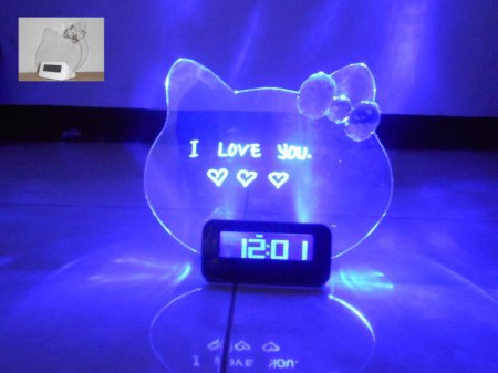 JAM DIGITAL PAPAN TULIS NYALA LED HELLO KITTY � MEMO BOARD