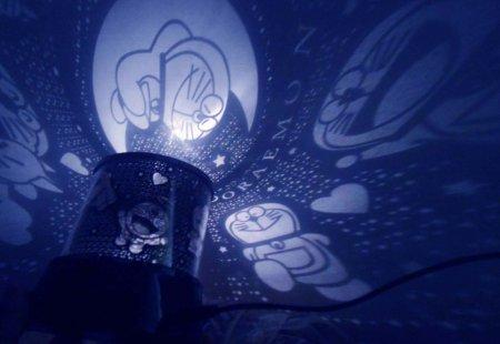lampu tidur proyektor doraemon star master lampu tidur