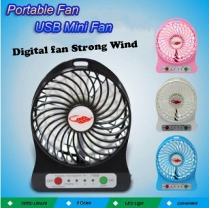 Portable Lithium Fan Kipas Angin USB Portabel Battery � 405