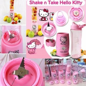 Shake N Take Hello Kitty 2 Gelas Juicer Blender Tabung - 899