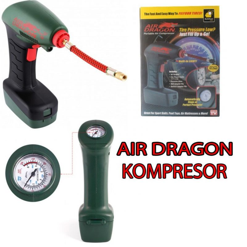 Air Dragon Kompresor Angin Pompa Udara Lampu LED Murah – 532