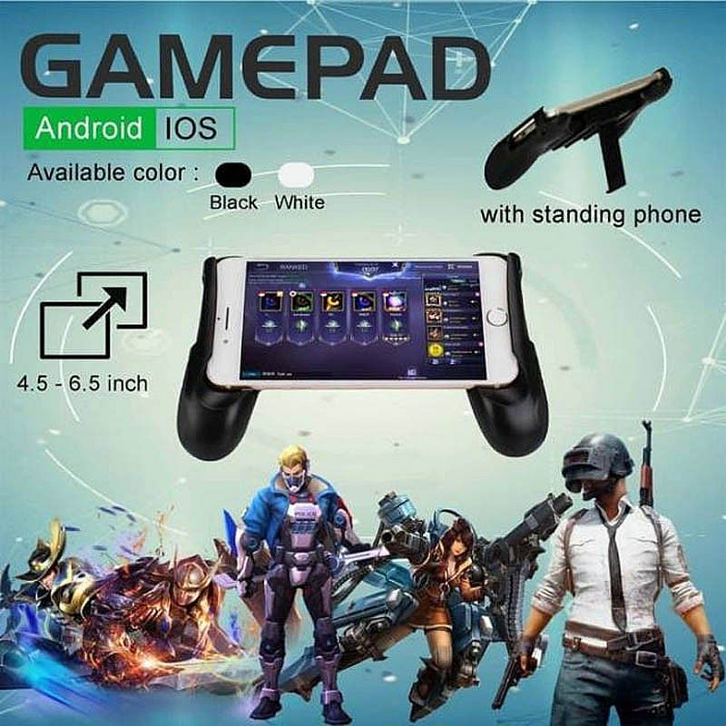 Gamepad Plus Standing Handle Holder Joypad Joystick PUBG Mobile Legend Game Pad – 157