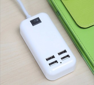 Charger USB 4 Port Kabel Panjang 4 in 1 buat Cas Handphone Ipad - 375