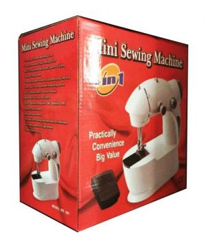 Mesin Jahit 4 in 1 Portable Lampu 2 Benang Mini Sewing Machine – 470