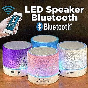 Speaker Bluetooth Mini S10 Motif Speaker Retak LED Hp Handphone Laptop PC Tab – 432