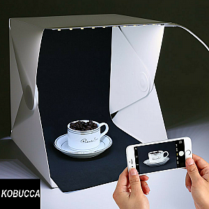 Studio Mini Foto Box LED Photo Mini Studio Magnetic Produk Online Shop Kuliner  - 809
