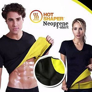 Baju Hot Shapers Body Slim Suit T Shirt Hot Shaper Hot Shape Pakaian Olahraga – A61
