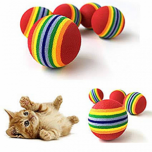 Mainan Bola Kucing Rainbow Ball Toys Mainan Bola Anjing Kitten Dog Toy – A447